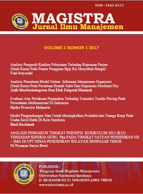 Jurnal Magister Manajemen