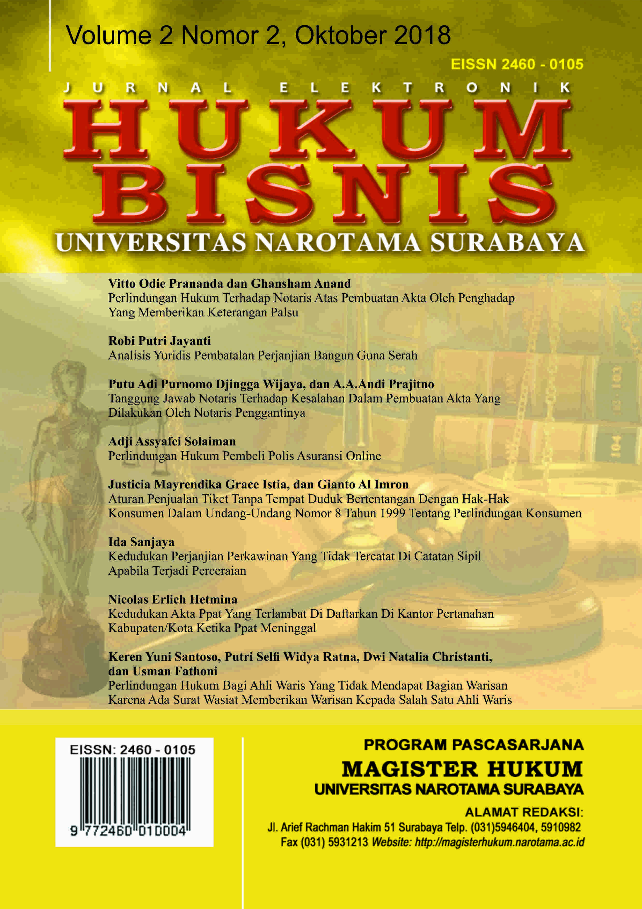 JURNAL MAGISTER HUKUM