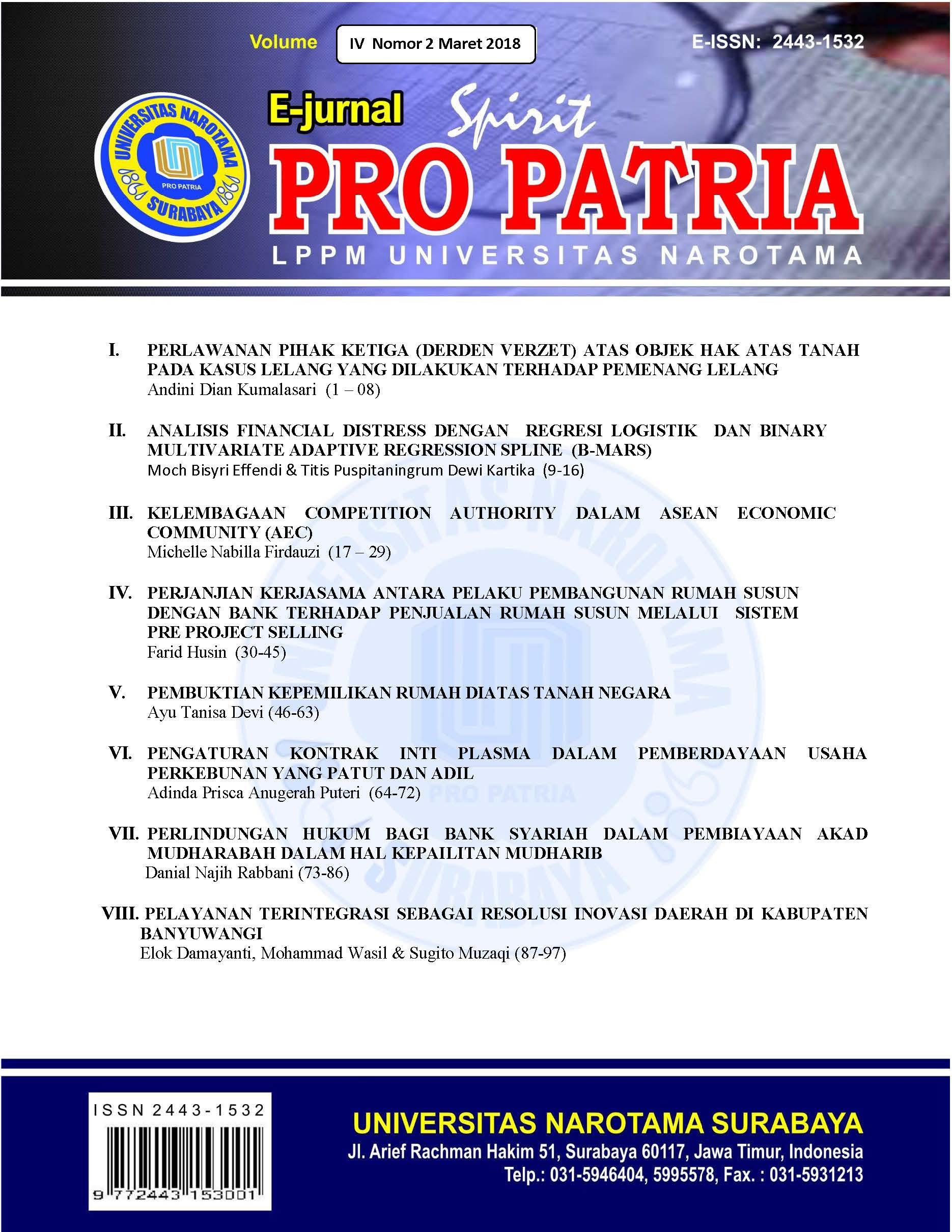 JURNAL SPIRIT PRO PATRIA